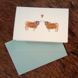 Mini Animal Greeting Card with Wool - Luss General Store