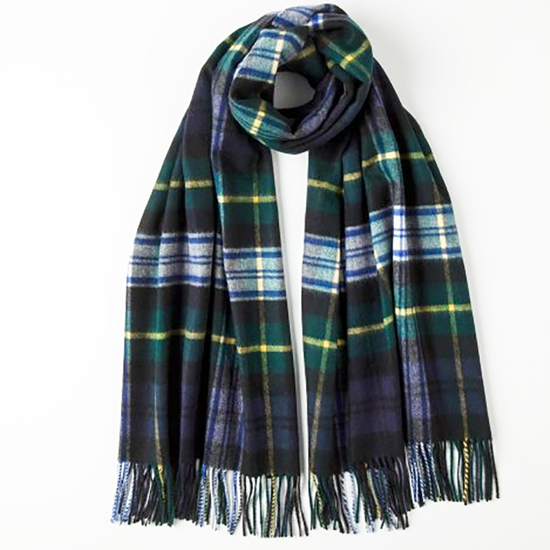 Johnstons of Elgin, Dress Gordon Tartan Stole in Cashmere - Luss General Store