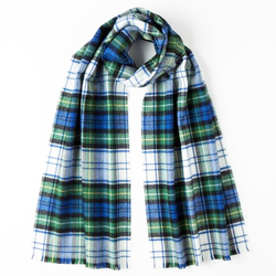 Extra Fine Merino Scarf by Johnston's of Elgin in Campbell Tartan - Luss General Store