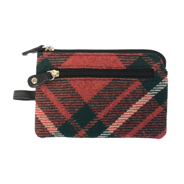 Key & Coin Case in MacGregor Tweed and Leather - Luss General Store