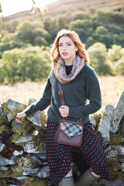 Blair Bag in Weathered Colquhoun Tweed & Leather