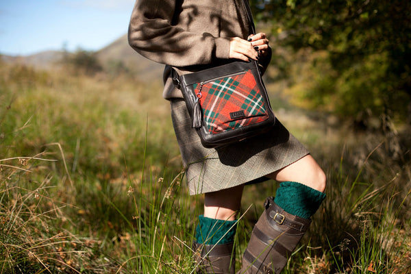 Iona Satchel in MacGregor Tweed & Leather