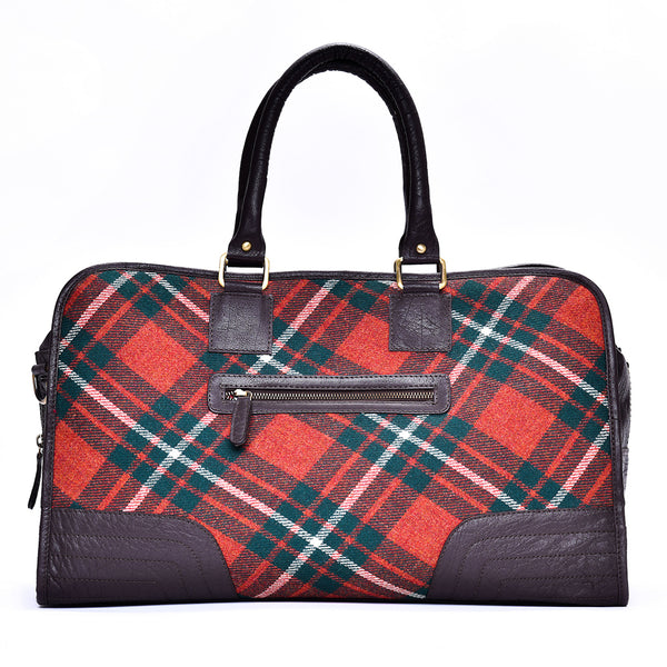 Holdall Bag in MacGregor Tweed & Leather - Luss General Store