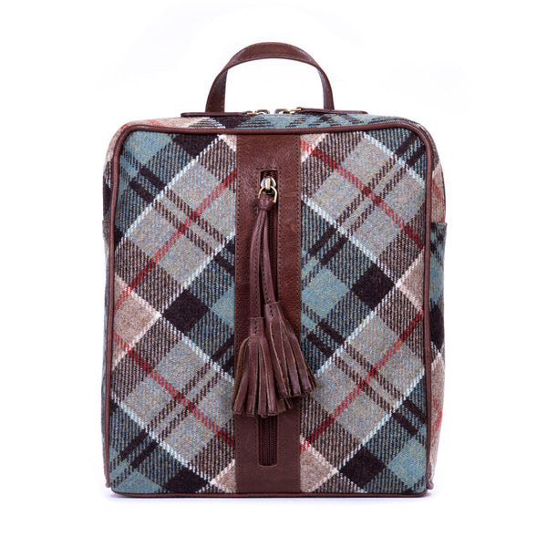 Molly Backpack in Weathered Colquhoun Tweed & Leather