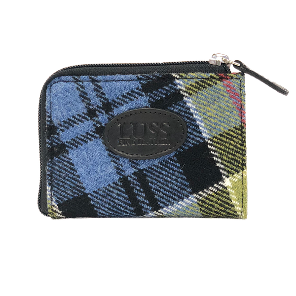 Pass Purse in Ancient Colquhoun Tweed and Leather - Luss General Store