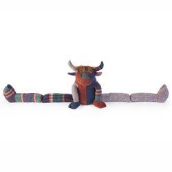 Patchwork Highland Cow Draught Excluder - Luss General Store