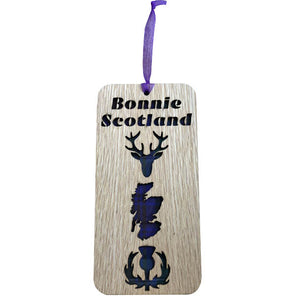 'Bonnie Scotland' Hanging Tartan Plaque