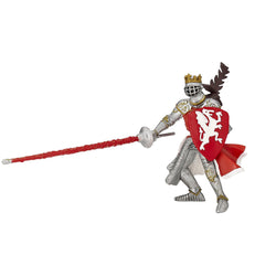 King Figurine with Red Dragon Shield - Luss General Store