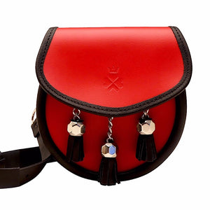Nixey Sporran Bag in Red Leather