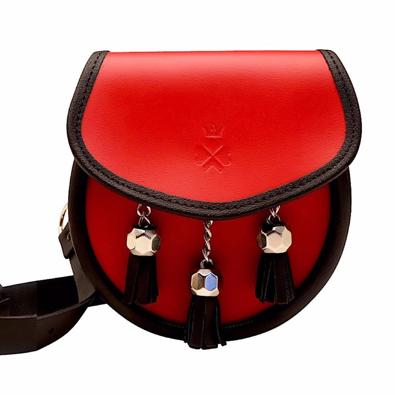 Nixey Sporran Bag in Red Leather - Luss General Store