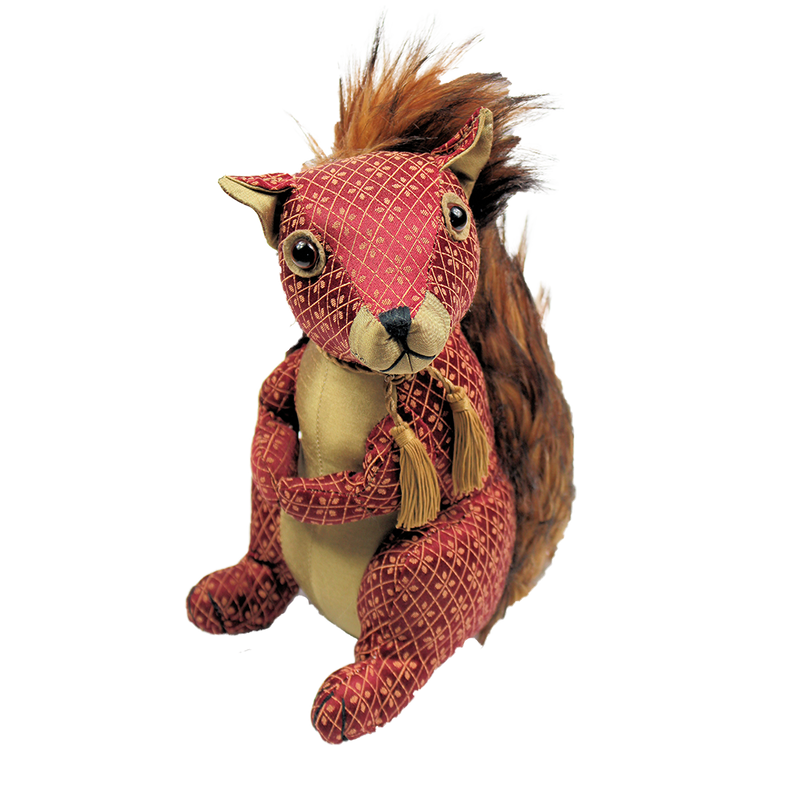 Ruby Red Squirrel Doorstop