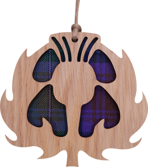 'Thistle' Hanging Tartan Plaque