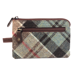 Key & Coin Case in Weathered Colquhoun Tweed and Leather - Luss General Store
