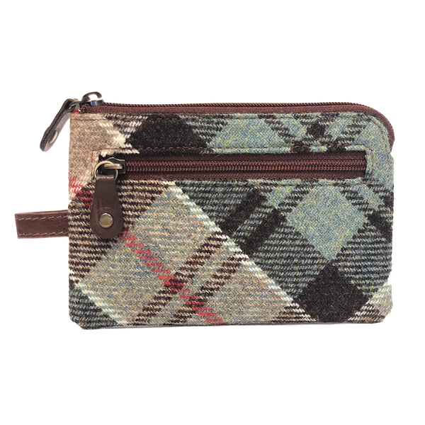 Key and Coin Case in Weathered Colquhoun Tartan Tweed - Luss General Store