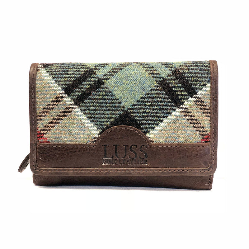 Esk Matinee Purse in Weathered Colquhoun Tweed and Leather - Luss General Store