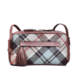 Cleo Bag in Weathered Colquhoun Tweed and Leather - Luss General Store