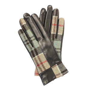 Roxburgh Gloves in Weathered Colquhoun Tweed and Leather