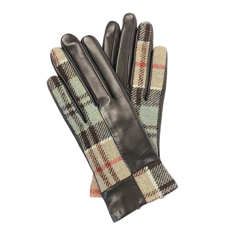 Roxburgh Gloves in Weathered Colquhoun Tweed and Leather - Luss General Store