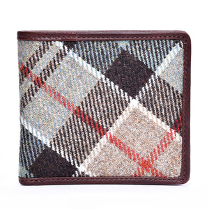Card Wallet in Weathered Colquhoun Tweed and Leather