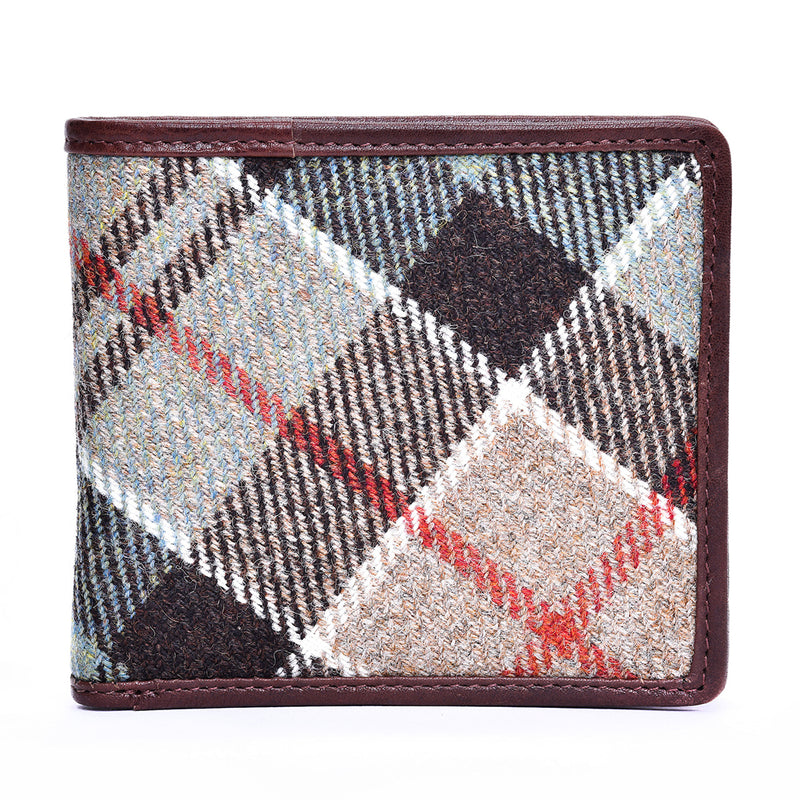 Flap Wallet in Weathered Colquhoun Tweed and Leather - Luss General Store