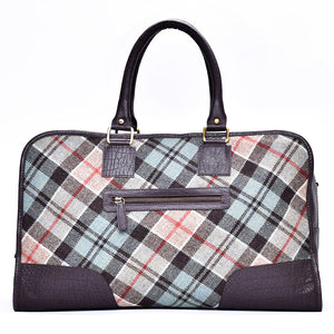 Holdall Bag in Weathered Colquhoun Tweed and Leather