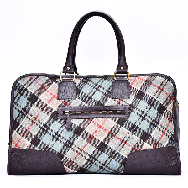 Holdall Bag in Weathered Colquhoun Tweed & Leather - Luss General Store
