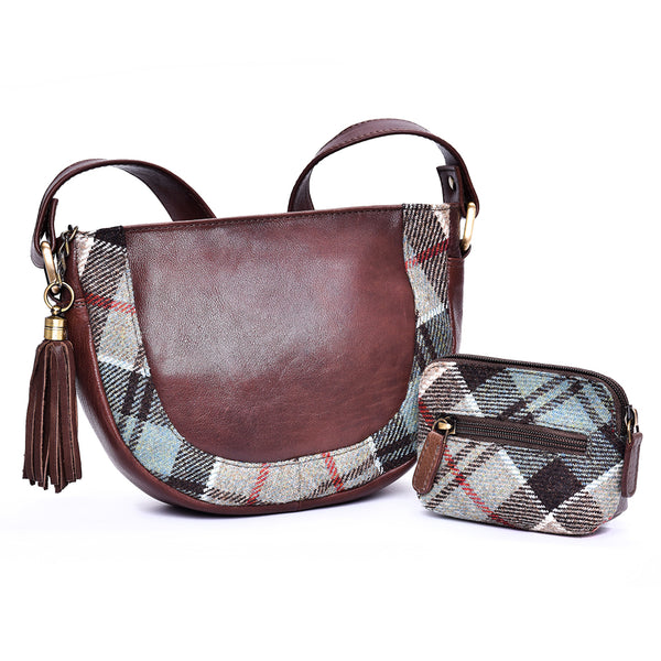 Jura Bag in Weathered Colquhoun Tweed & Leather - Luss General Store