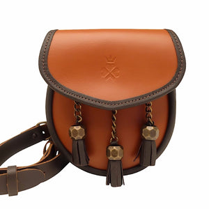 Nixey Sporran Bag in Chestnut Leather
