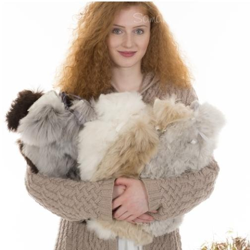 Alpaca Fur Hot Water Bottles by Samantha Holmes