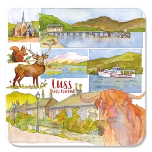 Luss Montage Coaster by Emma Ball