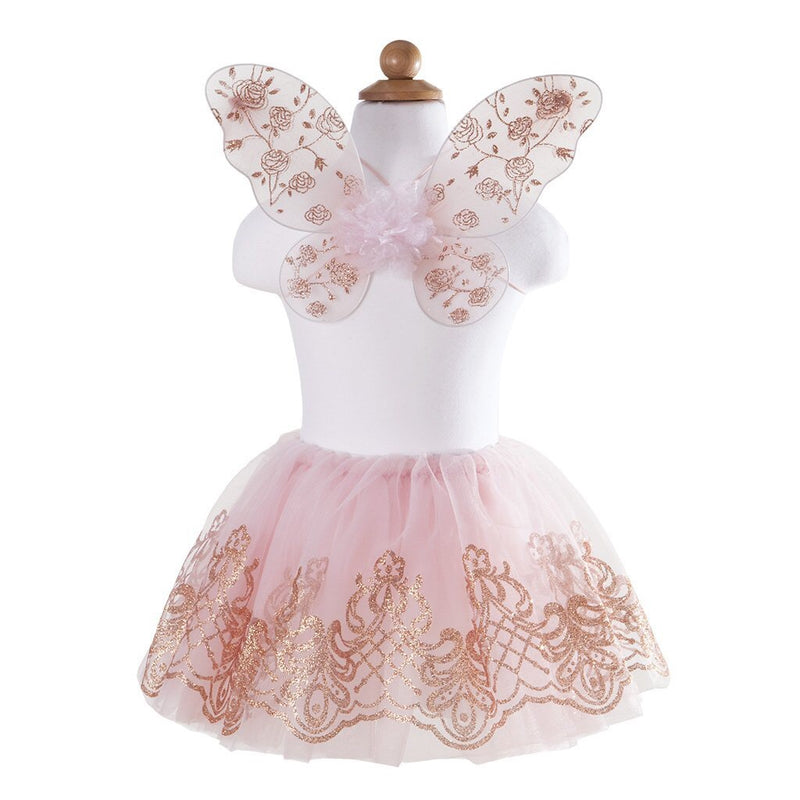Rose Gold Tutu and Wings Set