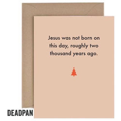 'Jesus' Card by Deadpan
