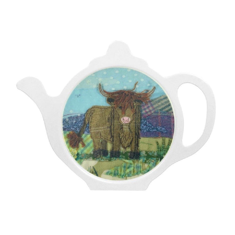 Tweedie Highland Cow Teabag Tidy by Abigail Mill at Emma Ball