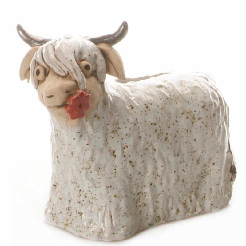 Highland Cow Ceramic Sculpture