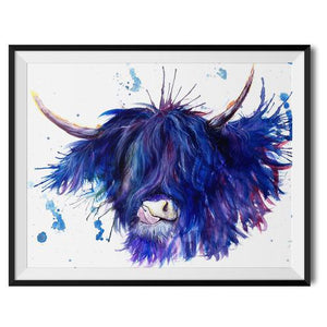 Splatter Highland Cow Range by Katherine Williams