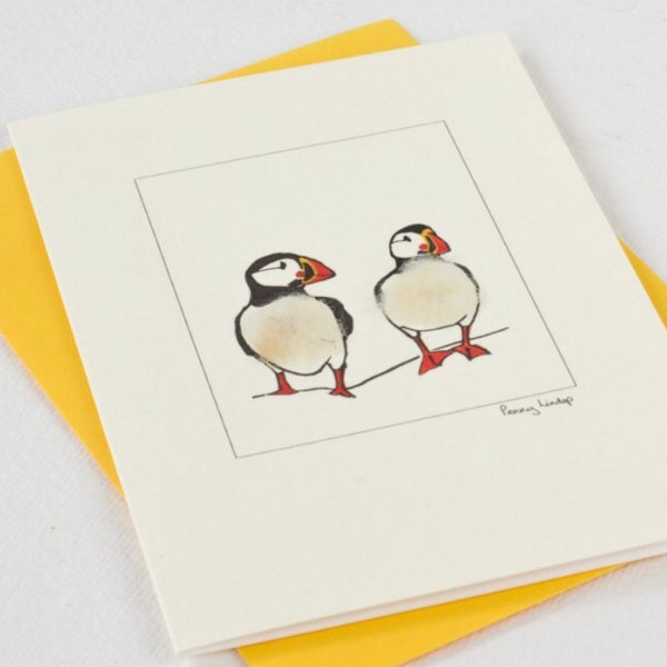 Two Puffins by Penny Lindop
