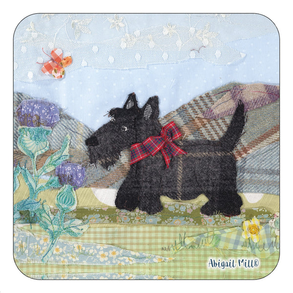 Tweedie Scottie Coaster by Abigail Mill