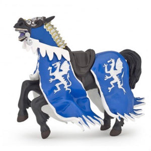 Horse with Blue Dragon Caparison Figurine (Papo)
