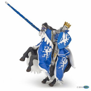 Horse with Blue Dragon Caparison Figurine