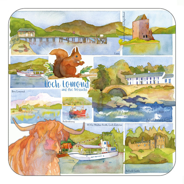 Loch Lomond & The Trossachs Coaster by Emma Ball