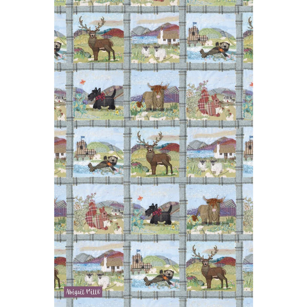 Tweedie Montage Tea Towel by Abigail Mill at Emma Ball