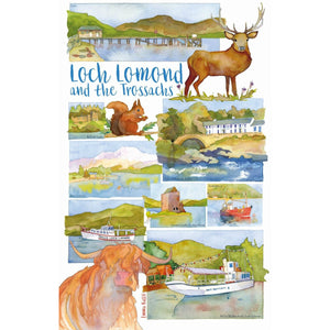 Loch Lomond & The Trossachs Tea Towel by Emma Ball