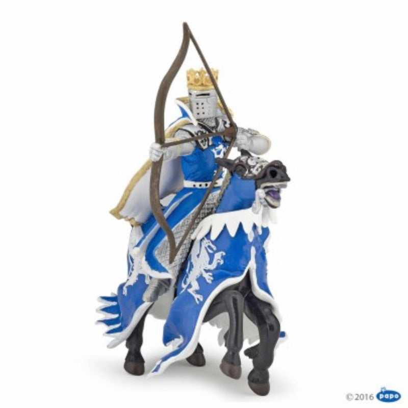 Horse with Blue Dragon Caparison Figurine - Luss General Store