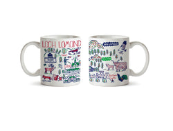 Loch Lomond Ceramic Mug by Julia Gash - Celtic Design