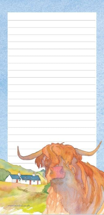 Highland Cow in Luss Magnetic Notepad by Emma Ball