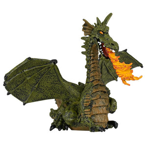 Green Winged Dragon Flame Figurine (Papo)