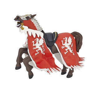 King's Horse Figurine with Red Dragon Caparison - Luss General Store