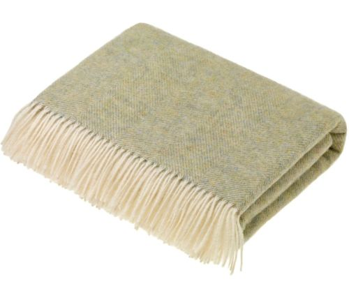 Shetland Throw in Light Sage