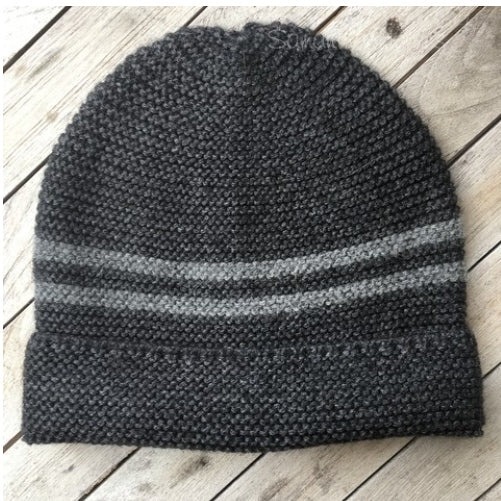 Alpaca Preppy Hat with Pom Pom by Samantha Holmes