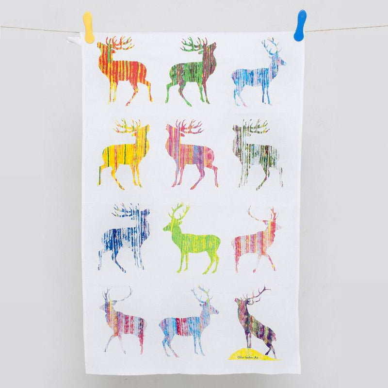 Colourful Multi Stags Design By Chloe Gardner